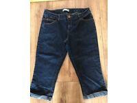 Ladies Dorothy perkins crop jeans size 12