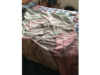 2 x tatty teddy quilt covers and fleece throw.