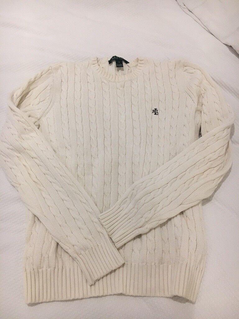 Cream Ralph Lauren cable knit