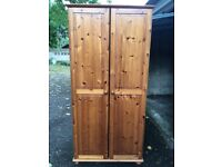 **FOR SALE** Solid Pine Wardrobe, used in good condition. Collection only. £60 ono