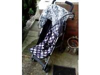 Mothercare childs fold up pushchair.