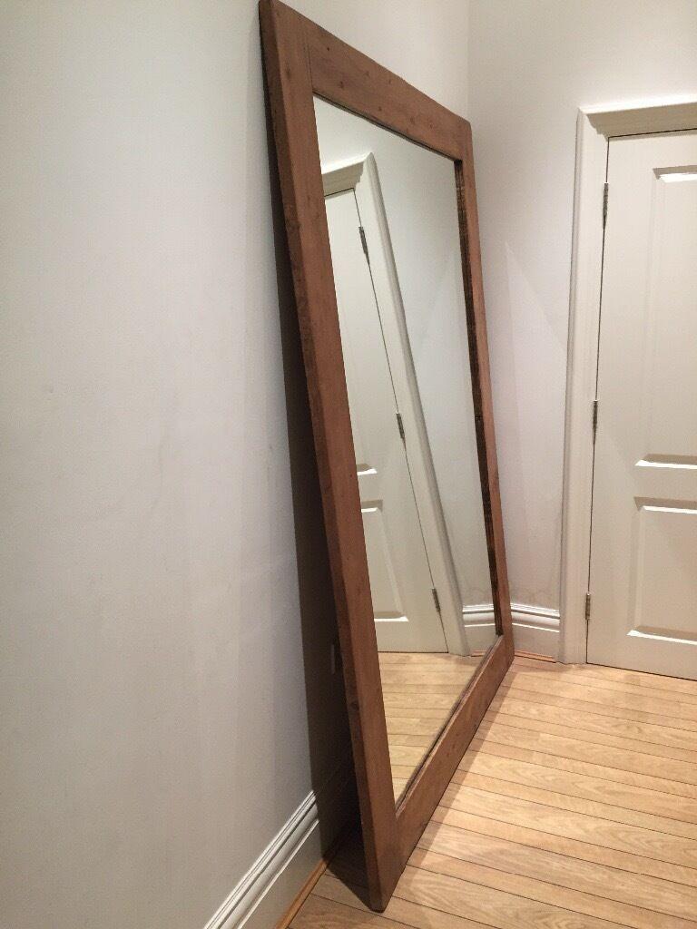 Huge solid wood mirror (210cm x 150 cm)