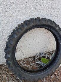 Dirt bike tyre