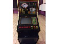 Slim line poker machine