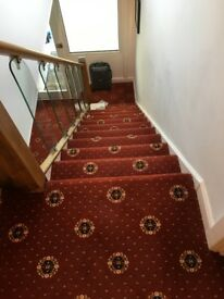 Ultra Striped Carpet Wool Mix Grey In Penarth Vale Of Glamorgan