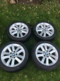 """Genuine BMW 17"""" alloy wheels and winter tyres"""