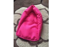 BRAND NEW pink baby head support for pushchair stroller buggy car carrier car; £2 o.n.o.