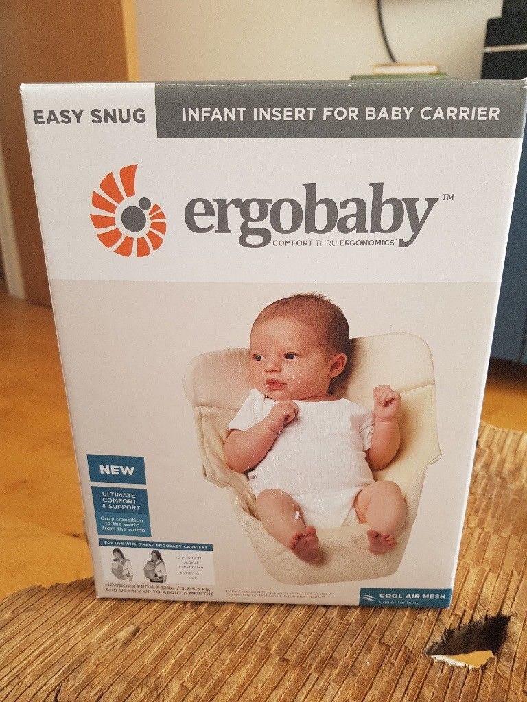76be5e9874b New - Ergobaby - Ergo Baby- Easy Snug Infant Insert  Cool Air Mesh Natural