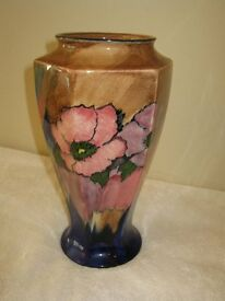 Antique Art Deco HK Tunstall Hand Painted vase in excellent