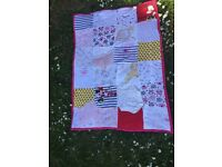 Handmade memory/baby keepsake blanket/quilt