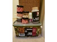 Selection of Carp Fishing pop ups, liquids and tiger nuts