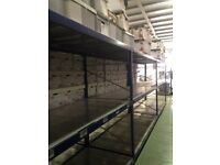 HI-LO INDUSTRIAL LONGSPAN SHELVING 2.4M HIGH,AS NEW ( PALLET RACKING , STORAGE)