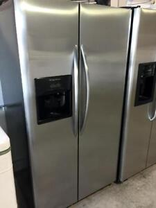 Frigidaire stainless steel double door fridge  WITH DELIVERY available