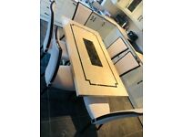 Marble dining table with 6 chairs