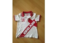England T-shirts - age 4 years
