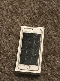 iPhone 6 16g Gold cracked screen