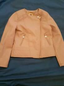 Julian mcdonald kids leather coat