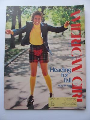 Vtg Aug 1971 American Girl Magazine Scouts Back To School Fall Fashion
