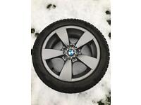 BMW alloys with dunlop winter tyres. 17 inch with 225 55 17