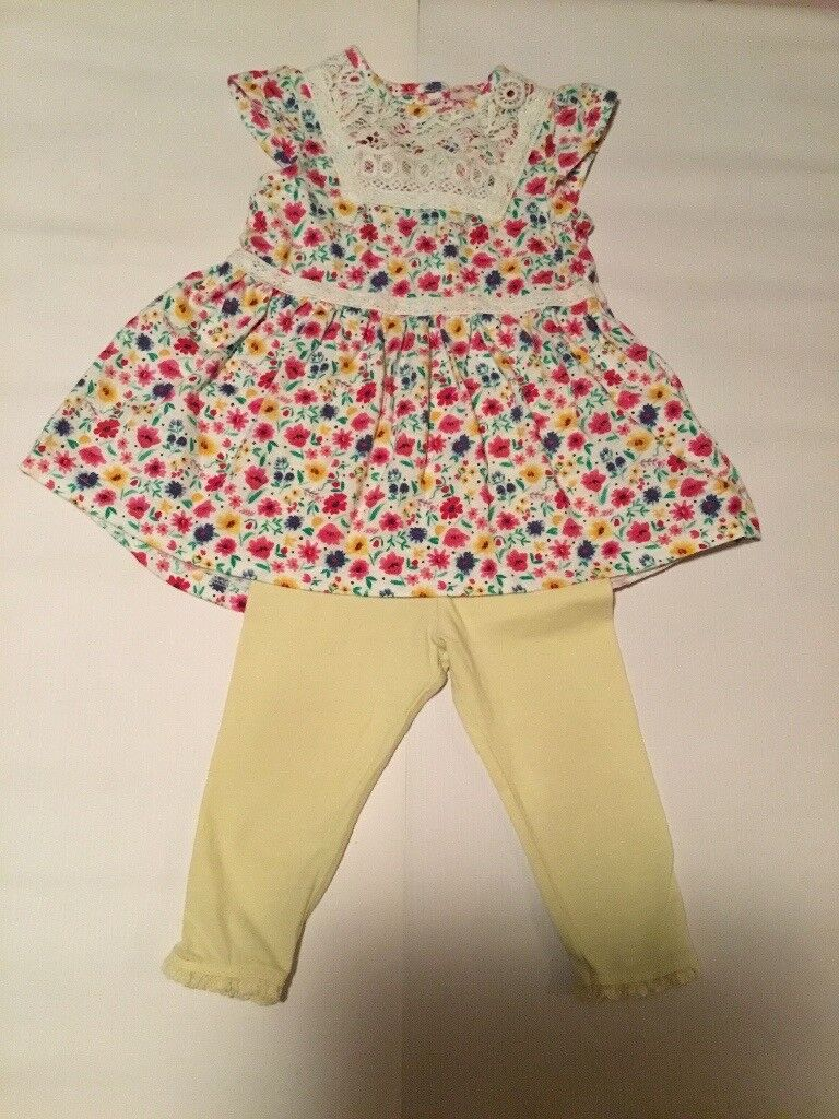 Baby Girl floral dress with leggings