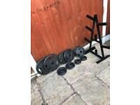 LikeNew Olympic Weights Set & Tree •Can Deliver•