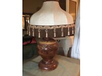 Beautiful large vintage table lamp and shade