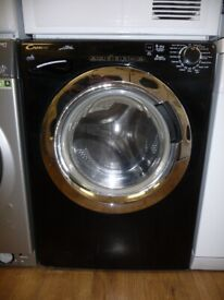 Candy Alise Washer / Dryer in Black/Chrome - 8 kg + 5 kg & 1500 rpm