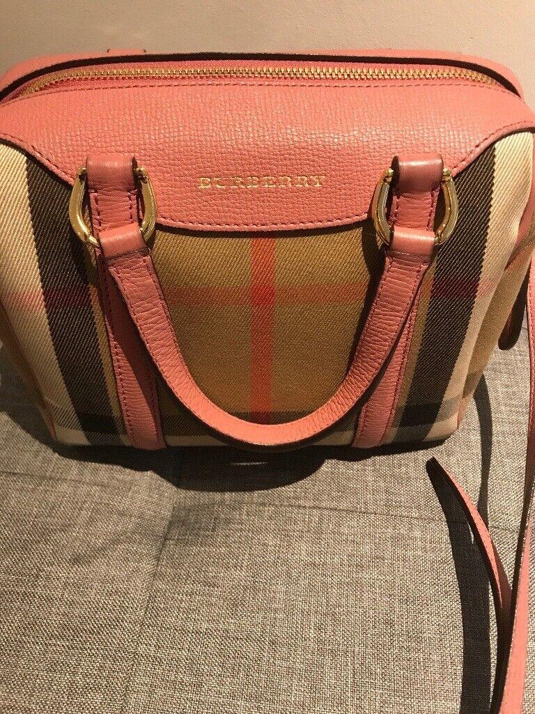 5387589e49bb Pink ladies genuine Burberry Bag