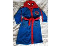 Marvel Spiderman Dressing Gown Age 3-4 years