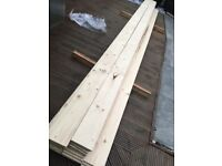 Pine wood flooring. 18x144mm Tongue and Groove. Spruce whitewood. Offers.