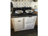 AGA 30 amp Electric Night Storage White 2 Oven