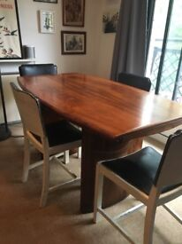 Vintage Dining Table + 4 chairs