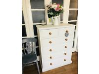 PINE TALL BOY CHEST FREE DELIVERY LDN 🇬🇧Shabby Chic