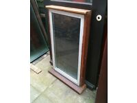 Alloy window with frosted d/glazed glass (non opener with hardwood outer frame)