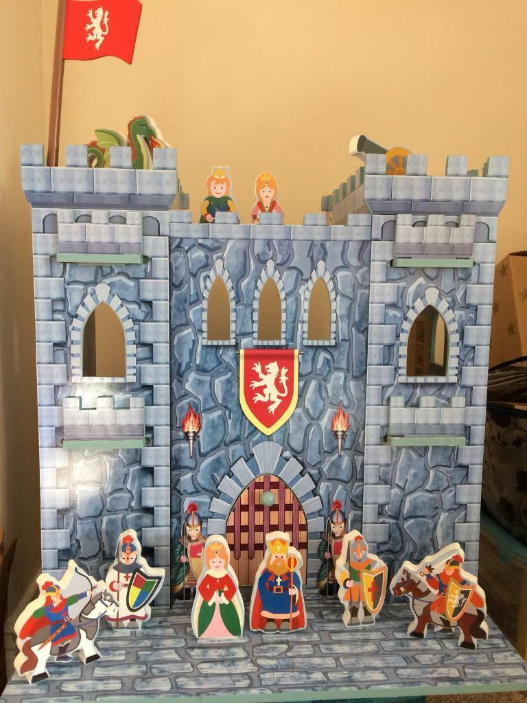Toy wooden castle