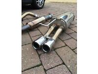 VW MK4 Golf 1.8T V5 Stainless Steel Exhaust Cat back
