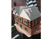 Large Dolls House And Lots Of Wooden Furniture