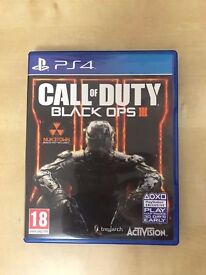 Call Of Duty: Black Ops III in Great Condition, PS4