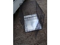 SMALL DOG CAGE WITH TRAY IN BOTTOM ONLY £10 FOR QUICK SALE