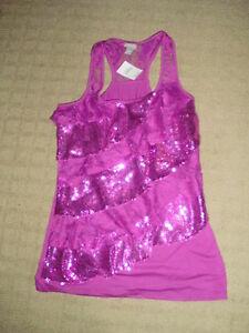 Brand New w. Tags - Women's Glitter Tank Top, SZ Med