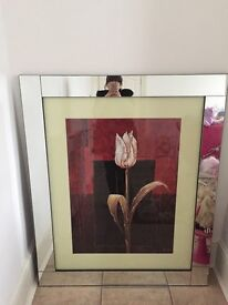 Large luxurious mirrored picture