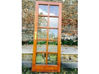 Solid wood glass panelled doors