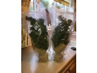 Pair of small artificial Christmas trees *Brand New In Packaging*