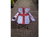 10 England Folding chairs with cup holders
