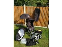 Icandy Apple special edition black magic pram and accessories