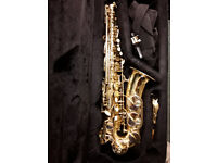 STUNNING NEW CONDITION SELMER PRELUDE ALTO SAXOPHONE, SERVICED, WITH ACCESSORIES