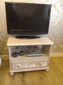 Hand Painted Decoupage, Solid Wood TV / Video Unit £45 ono