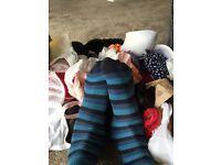 Worn ladies socks tights stockings