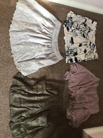 Topshop m butterfly mini skirt bundle size small size 10