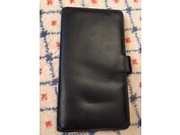 Leather wallet, 18cm by 10cm